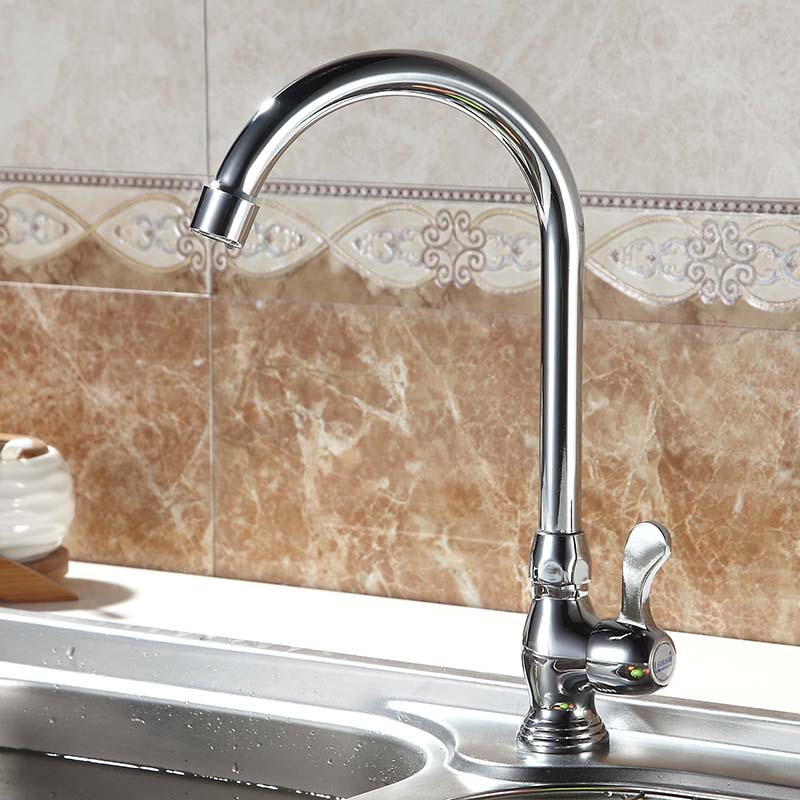Spiral gourd single cold water faucet hot and cold mixed water kitchen faucet type single vegetable