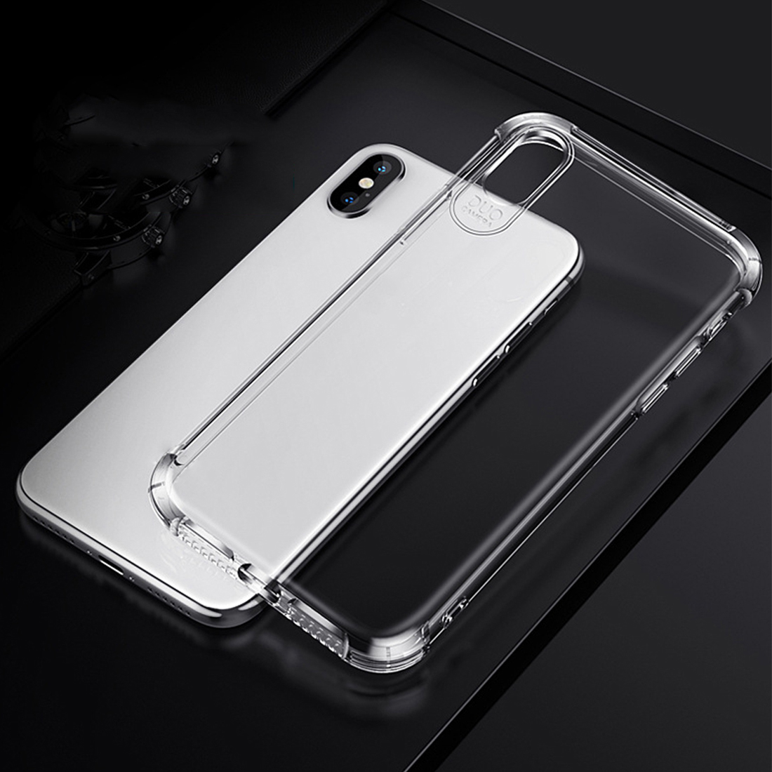 Case For IPhone 7 8 Plus Shock-proof Back Cover For IPhone X Xs Max Phone Case HD Clear Protective