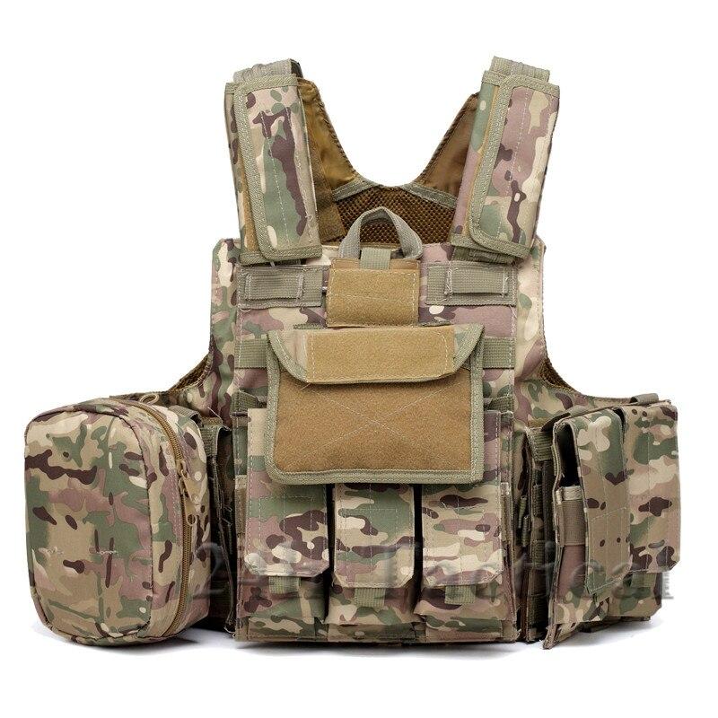 Gilet tactique de Combat de Paintball Molle avec poche de Magazine sac utilitaire libérable armure plaque transporteur grève gilets équipement militaire