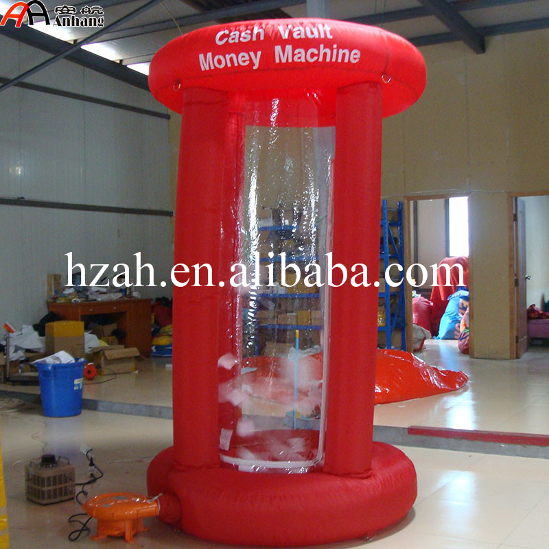 Free Shipping Comercial Advertising Inflatable Cash Grab Booth Inflatable Money Machine Booth david booth display advertising an hour a day
