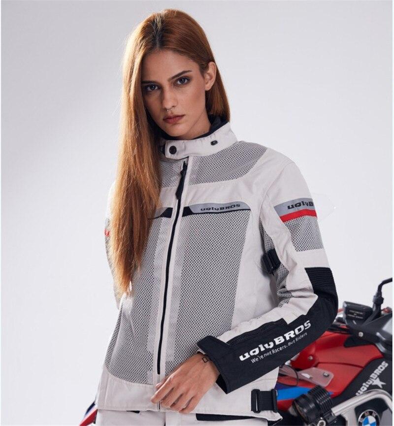 UglybrosTornado 2 veste Femmes de Réchauffement Imperméable Moto Veste Rack 5 pcs Protection