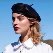 Chapeaux béret en cuir véritable pour femmes, casquette plate, Boina womina, mode, automne hiver