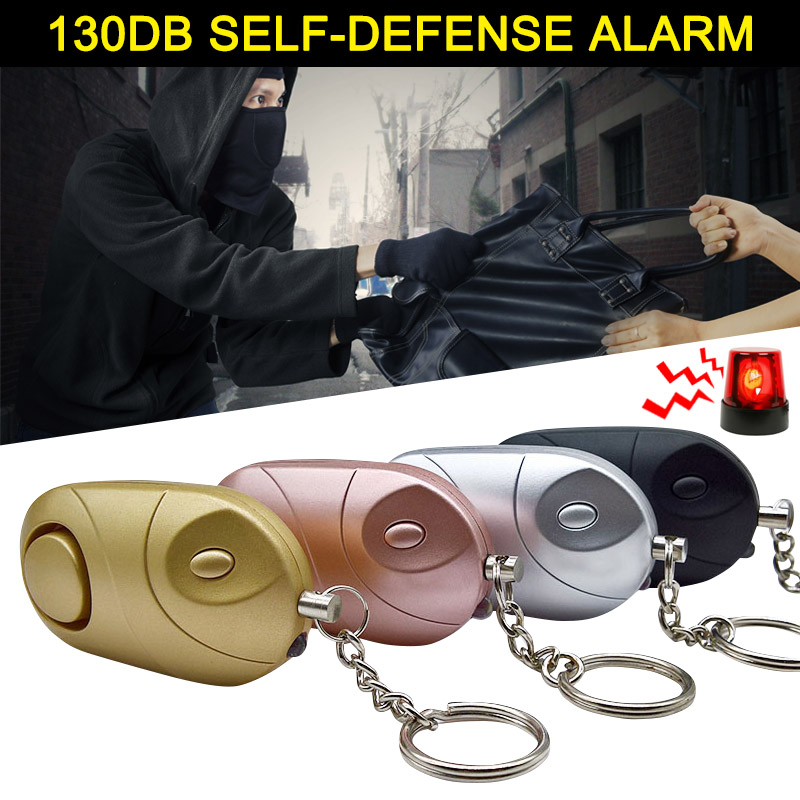 Personal Alarm Emergency Self-defense Alarm Keychain LED Flashlight For Women Kids Elderly Explorer SD998