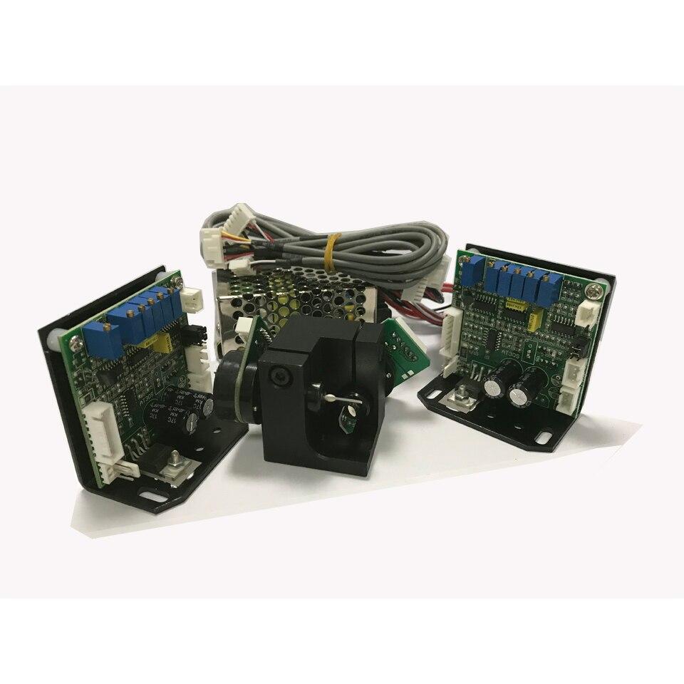 professional galvo scanner for laser lighting ILDA 30K galvoscanner for disco laser light show with the DMX512 control board 500pcs 1210 30k 30k ohm 5