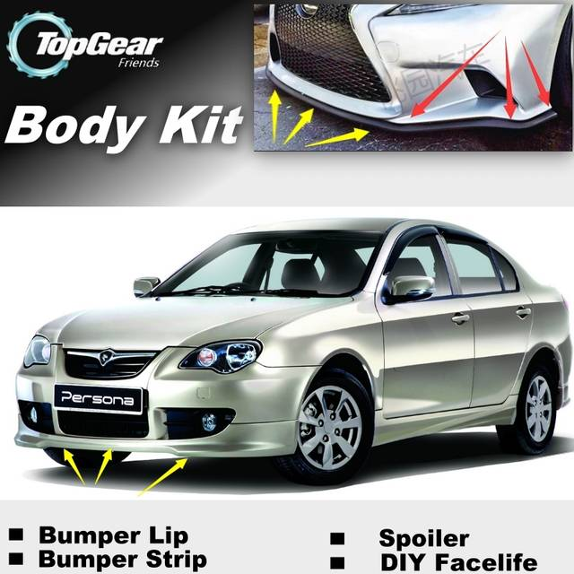 US $35 91 8% OFF Bumper Lip Deflector Lips For Proton Persona 2007~2015  Front Spoiler Skirt For TopGear Friends Car Tuning / Body Kit / Strip-in  Front