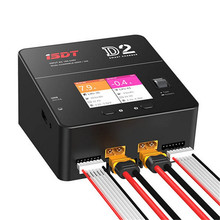 ISDT D2 Dual Channel Output Fast Charge Lithium Battery Balance Charger 200W 20A AC For RC Helicopter Quadcopter Drone Charging