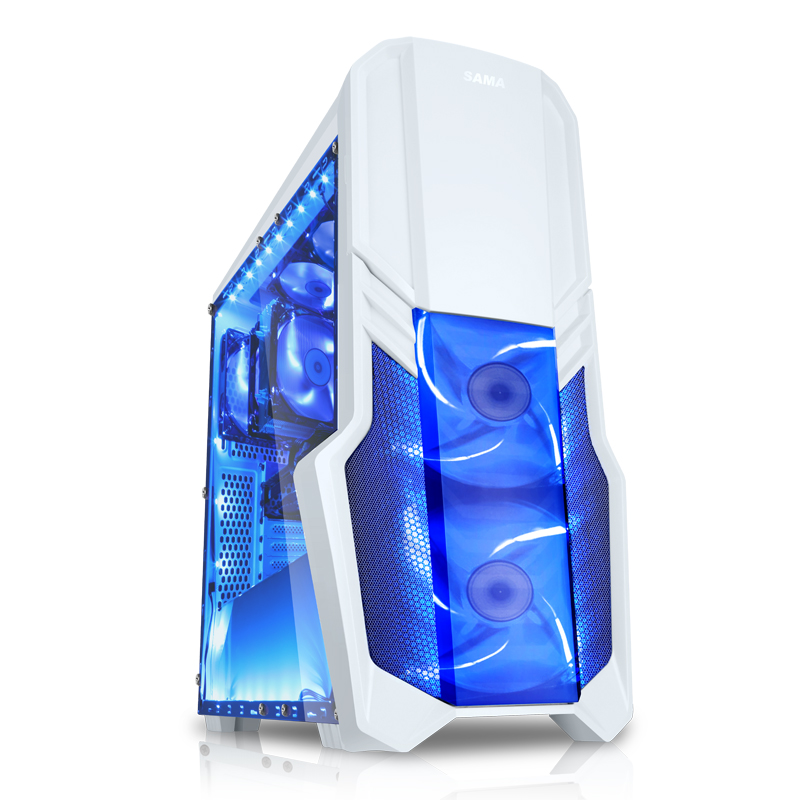 Future Warrior ATX Computer game chassis U3 SSD interface Full-sided All white Support water cooling Long graphics card found the chassis computer desktop chassis game chassis water cooling large tower chassis