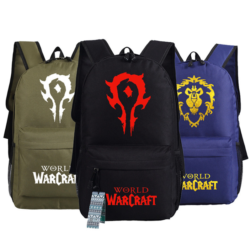 World Of Warcraft Horde Wow Lo Alliance Bags Zipper Messenger Student School Bags Travel Laptop Bags Bag Gift