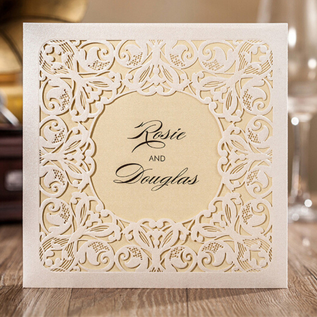 1pc sample of wedding party invitation cards any pattern sale in our