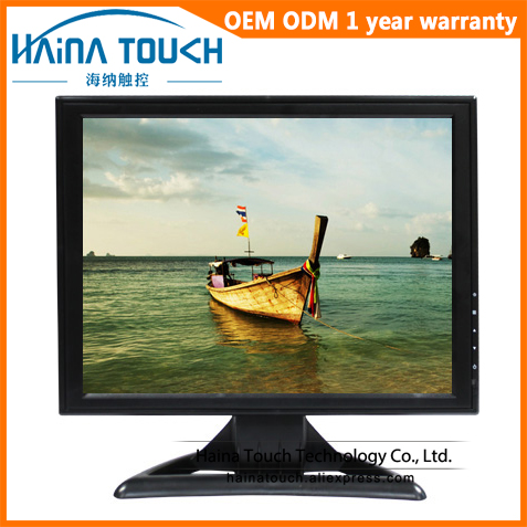 TFT 1024*768 15 inch VGA LCD Monitor, LED Backlight Desktop Computer PC Monitor High Resolution Desktop display weinview mt8150ie 15 inch 1024 768 hmi new original can replace mt8150x 13 months warranty