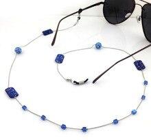 10 цвета Женщины Старинные Моды Камни Очки Eyewears Солнцезащитные Очки Очки Для Чтения Цепи Шнура Держатель шейный ремешок Веревка