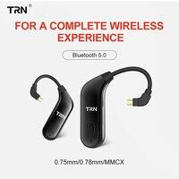 TRN BT20 Bluetooth V5.0 ухо соединитель крюка наушники Bluetooth Адаптер MMCX/2Pin для SE535 UE900 TRN V80/V10/V20/X6