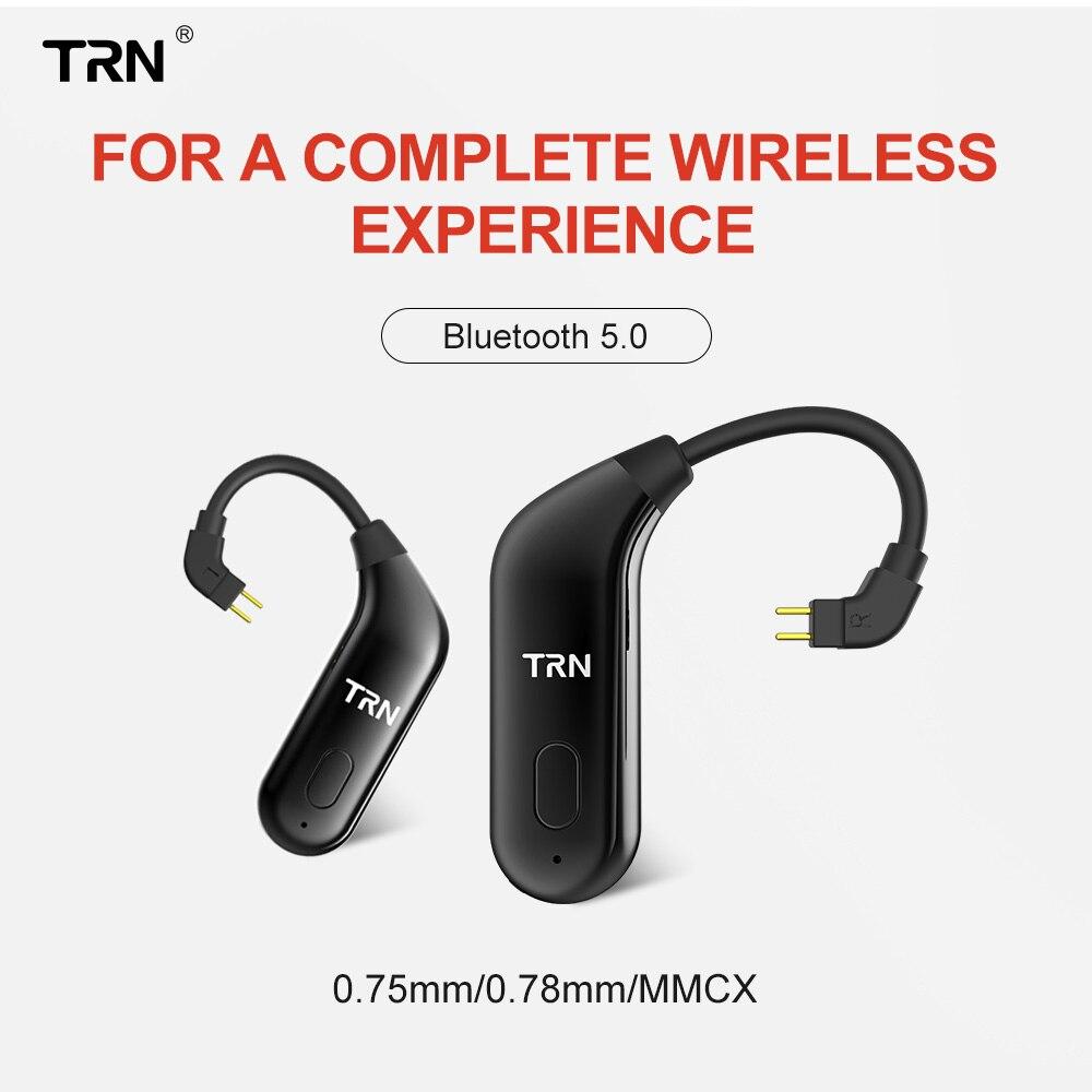 TRN BT20 V5.0 Orelha Gancho Do Bluetooth Adaptador MMCX Conector Do Fone De Ouvido Bluetooth/2Pin Para SE535 UE900 ZS10/AS10/ BA10 TRN V80/V10/V20