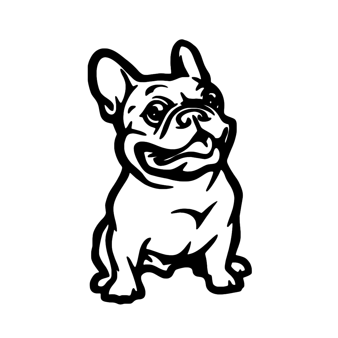 Dewtreetali French Bulldog Dog Car Sticker PET Cars Decal Weatherproof Auto Styling Cartoon Car Stickers Car Accessories