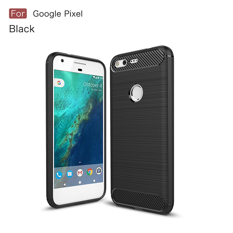 For Google Pixel Case For Google Pixel XL Cover Silicone Soft TPU Brushed Carbon Fiber Texture Protective Phone Case Luxury