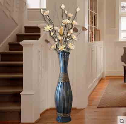90 cm Hoge Grote Bamboe & Hout Vaas Grote Vloer Vaas Retro Vintage ...