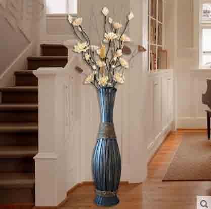 90cm High Big Bamboo U0026 Wood Vase Large Floor Vase Retro Vintage Living Room  Home Decor Craft Flower Pot Decoration Floor Vase In Vases From Home U0026  Garden On ...