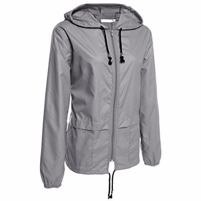 0be997a7e1e New arrivals Women's Lightweight Rain Jacket Outdoor Packable Waterproof  Hooded Raincoat fashion Slim coats #0719