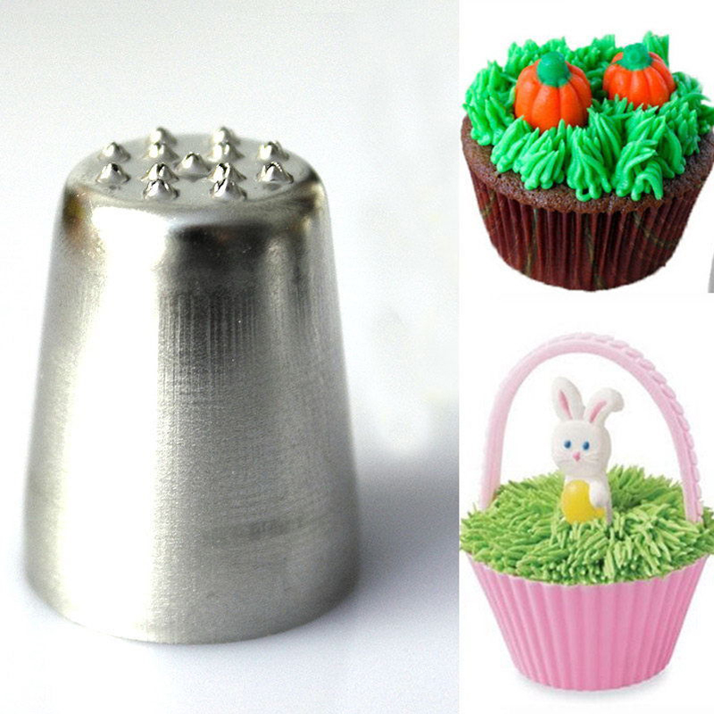 New useful grass hair icing piping nozzle cake cupcake for New home cupcake decorations