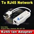 USB 2.0 para RJ45 Lan Rede Ethernet Adapter Cartão Asix Chipset: AX8872B Para Apple Mac Win7 10 100 Mbps