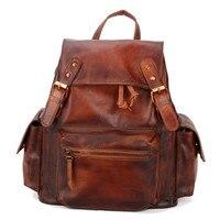 Европа и США Англия Колледж рюкзак натуральной кожи насосные студент школьный рюкзак Для женщин студент досуг
