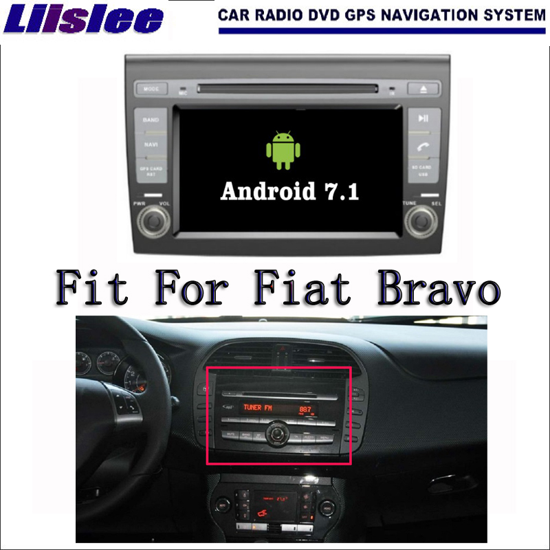 Liislee Android 7.1 2G RAM For Fiat Bravo 2007~2013 Car Radio Audio Video Multimedia DVD Player WIFI DVR GPS Navi Navigation