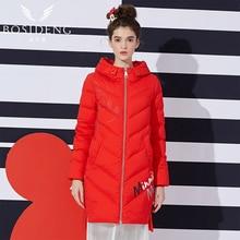 BOSIDENG Women Big Size Winter Thick Down Coat X-long Jacket Thick Outwear Hooded B1601124