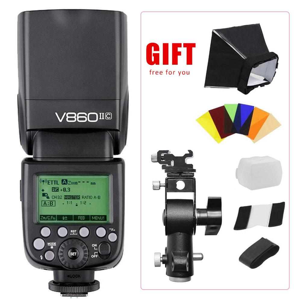 Godox V860II TTL Plastic Wireless Camera Flash Light Speedlite LCD for Canon