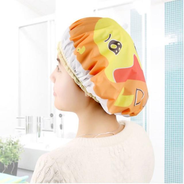 1 pz Del Fumetto Sveglio Delle Donne Delle Ragazze Cappello Doccia Impermeabile