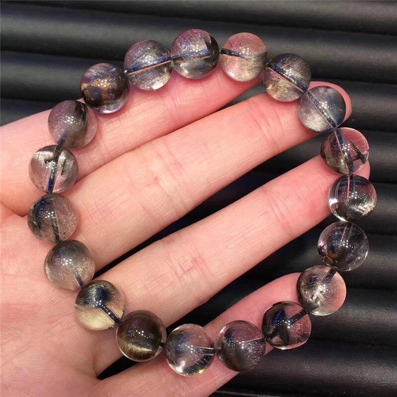 Natural Silver Rutilated Quartz Crystal Bracelet (5)