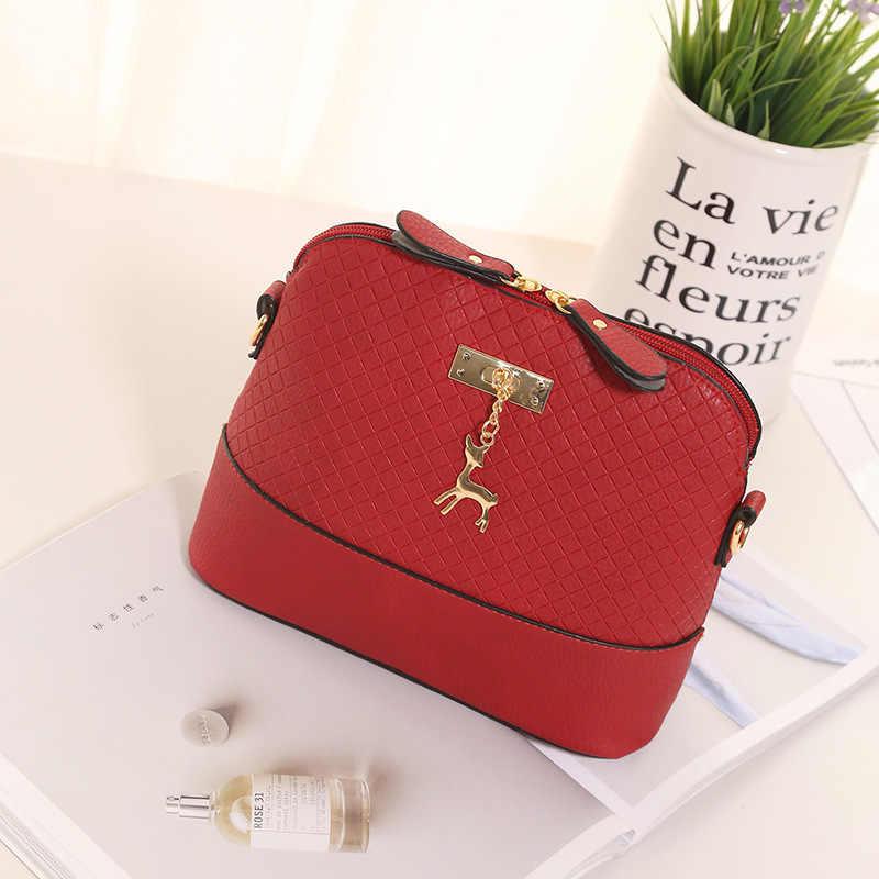 Женские сумки качество из искусственной кожи мягкая лицо женская сумка дикая сумка через плечо сумка стеганая оболочка сумка кулон милый олень 2019 Новый