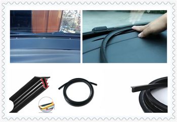 Car shape rubber instrument panel seal strip soundproof and dustproof for BMW E46 E39 E38 E90 E60 E36 F30 F30 image