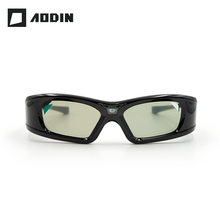 AODIN Active Shutter 3D Glasses Projector DLP Link Virtual Reality LCD lens glasses for Home Cinema Build-in 210mAh battery