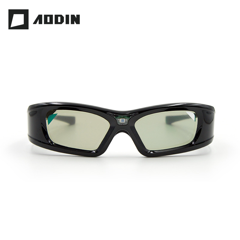 AODIN Active Shutter 3D Glasses Projector DLP Link Virtual Reality LCD lens glasses for Home Cinema Build in 210mAh battery