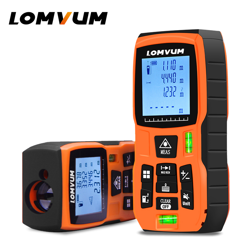 LOMVUM 40-120M Laser Distance Meter with Large LCD and Backlight for Wide Range Measurement 1
