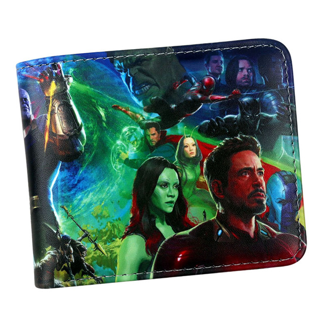 Nueva llegada 2018 marvel wallet Avengers infinito guerra Capitán América/Hulk/S.H.I.E.L.D/hombre de hierro/Negro Panther titular de la tarjeta