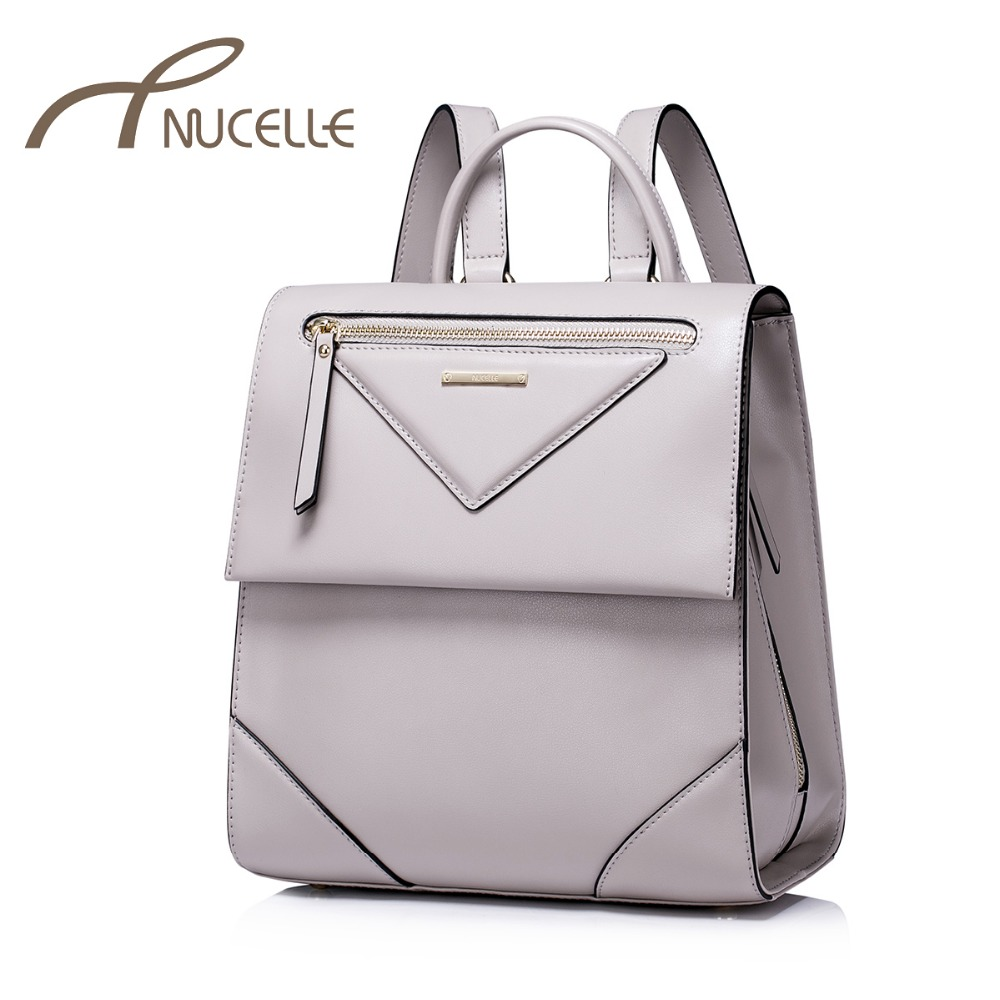 NUCELLE Women Split Leather Backpack Female Leisure Daily Student School Double Shoulder Bags Ladies Travel Rucksack NZ4920 anime tokyo ghoul cosplay anime shoulder bag male and female middle school student travel leisure backpack