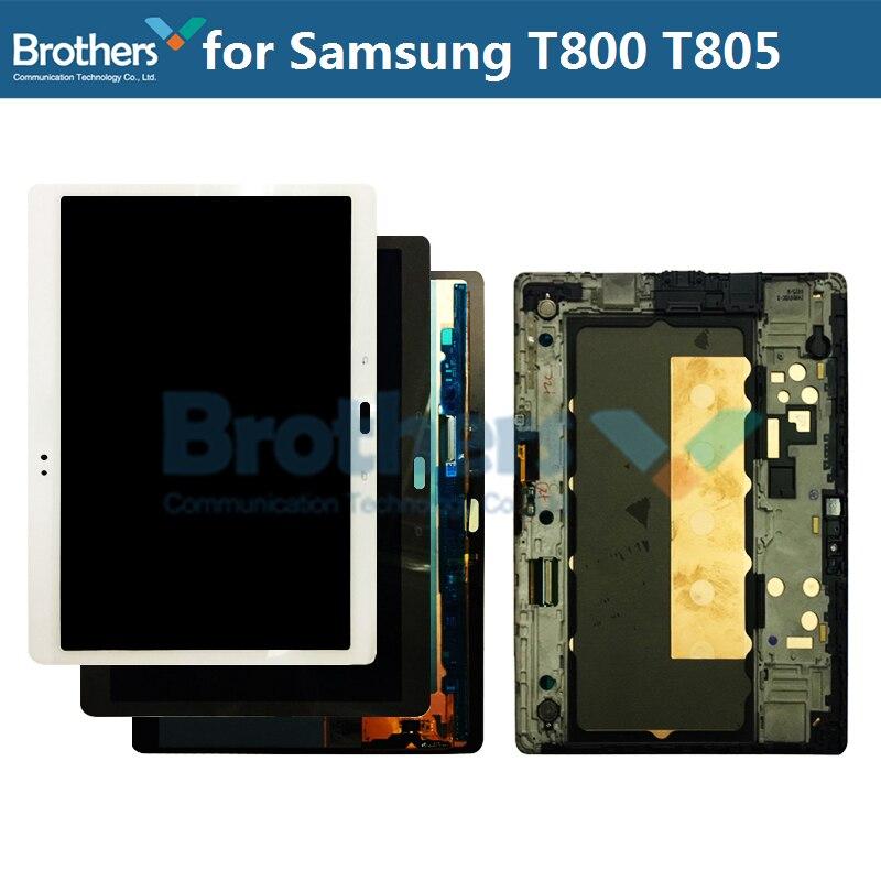 Affichage à cristaux liquides d'amoled pour l'écran d'affichage à cristaux liquides de S T800 T805 d'onglet de galaxie de Samsung pour le numériseur d'écran tactile d'assemblée d'affichage à cristaux liquides de Samsung SM-T800 SM-T805