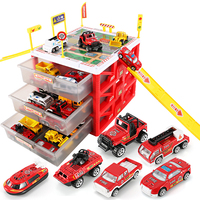 Multi functional Mini Parking Lot Car Toy Drawer Kids Toys Storage Box Case Boys Novelty Gifts Children Party Games