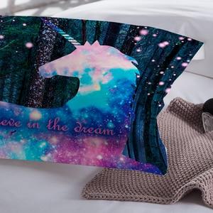 Image 4 - カラフルなユニコーン寝具セット布団カバー寝具ツイン女王キングサイズ 3 個ホームテキスタイル