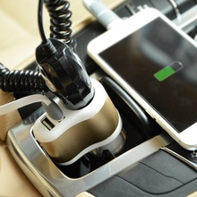Автомобильное зарядное устройство 3,1 а с двумя USB портами, мобильный телефон, адаптер для автомобильного зарядного устройства с указателем, светильник, прикуриватель 12 24 В