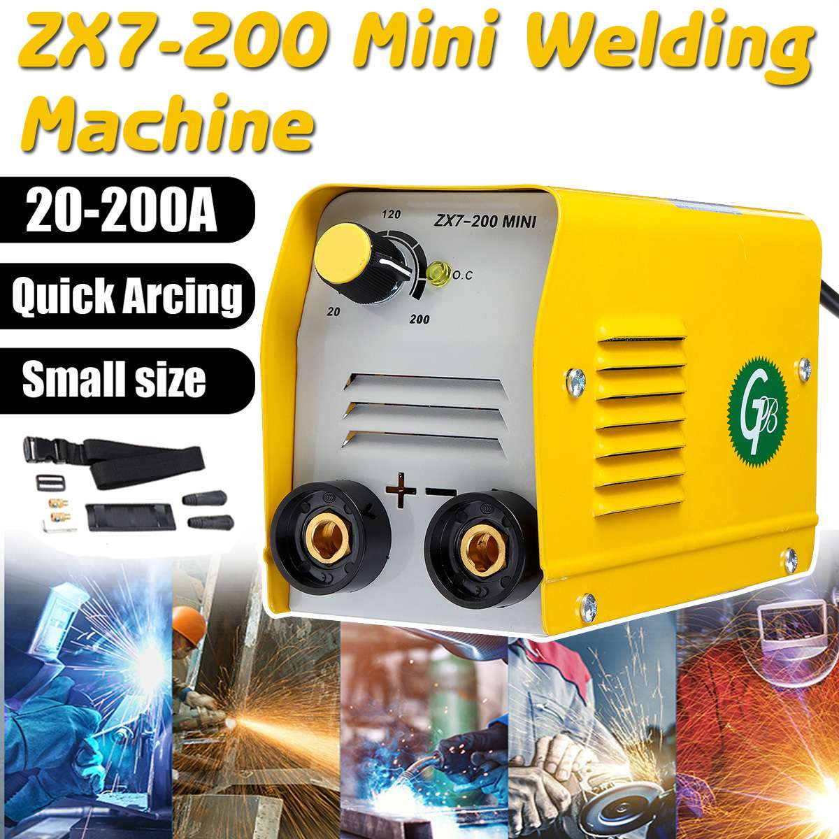 ZX7 200 220V Portable Mini Electric Arc Force Welding Machine With Insulated Electrode Inverter Welders