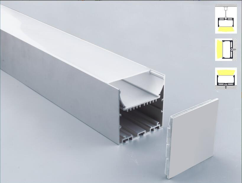 frete gratis 2 m pcs 10 m lote tira conduzida perfil de aluminio led perfil de