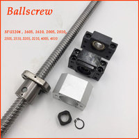 Ballscrew C7 Ballnut BK BF End Support +Bracket Kit L500mm L1000mm SFU RM 1204 1605 1610 2005 2010 2505 2510 3205 3210 4005