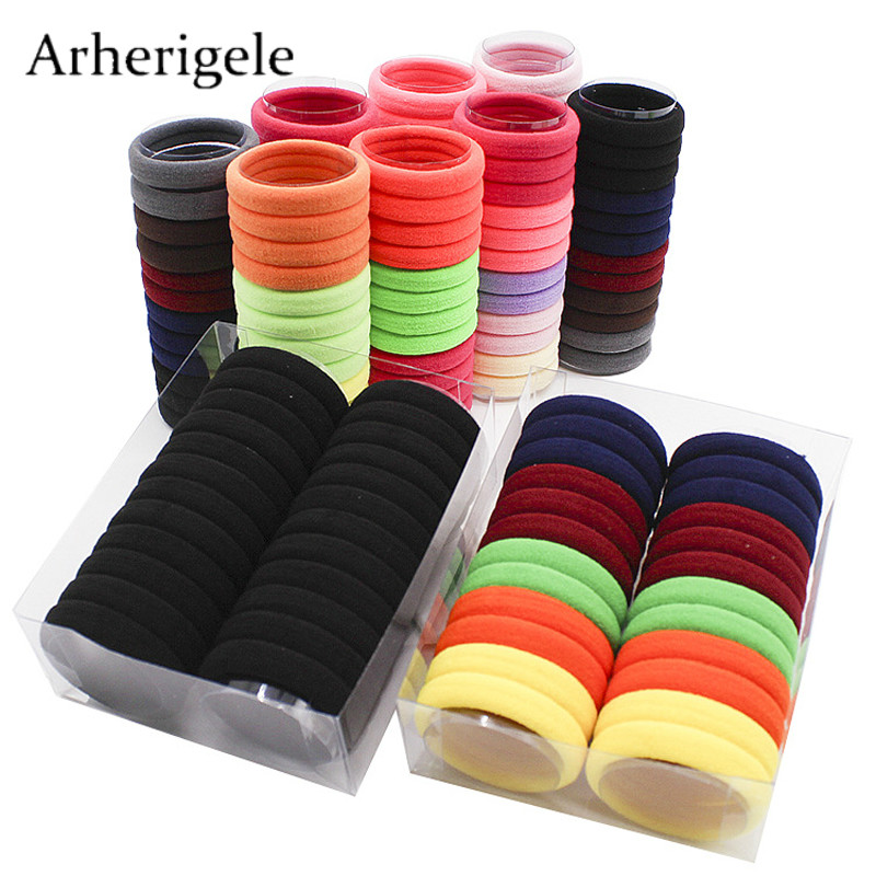 Arherigele 24pcs/lot Elastic Hair Band for Women Hair Rubber Bands Girls   Headwear   Ponytail Holder Gum for Hair Rope/Ring/ Ties