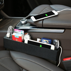 Image 2 - 車のフロントシート材オーガナイザー CE 認定 2 ポート USB 充電器携帯電話携帯ホルダーオートインテリアアクセサリー