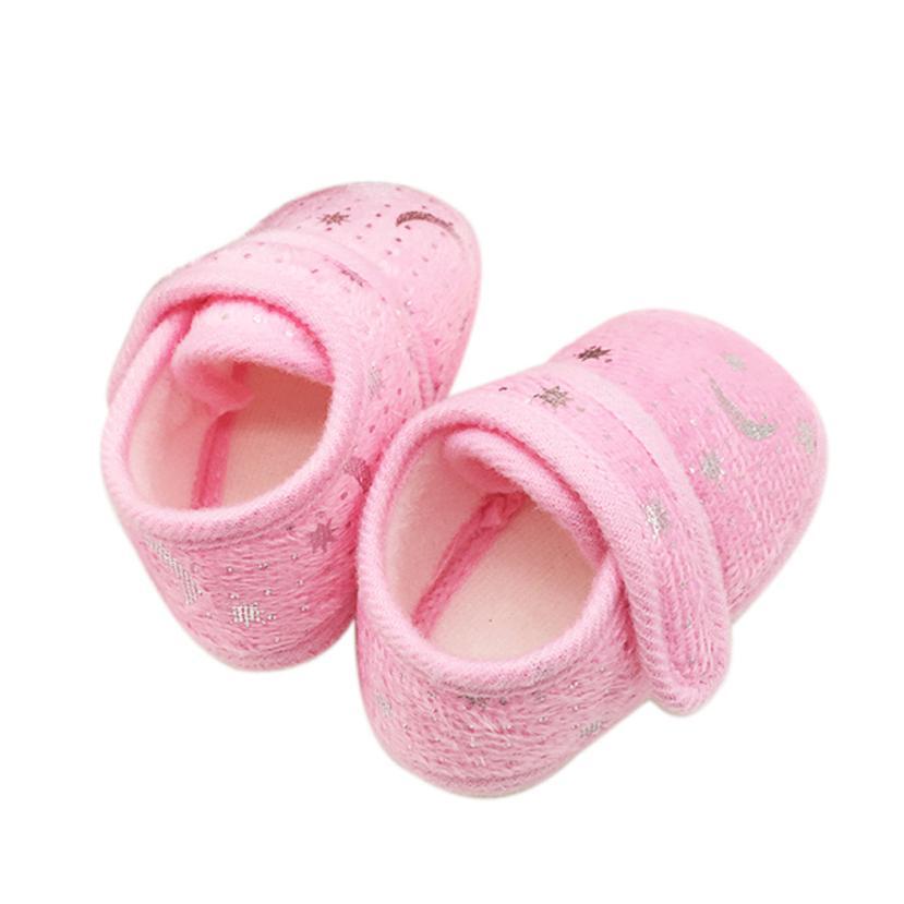 ARLONEET Baby Shoes Girl Boy comfortable Crib shoes 2018 Kids Hook&Loop Starry Sky Printed daily Walking Shoes
