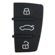 Горячий ремонт 1 шт. дистанционный брелок 3 кнопки резиновая накладка замена Подходит для Audi A3 A4 A6