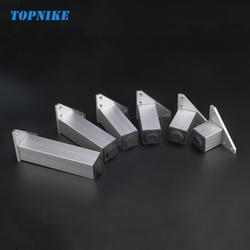 TOPNIKE 4 шт./лот несущей настраиваемые по высоте квадратный корпус пространство для ног алюминиевая мебель ногу Поддержка ножки для тумбы