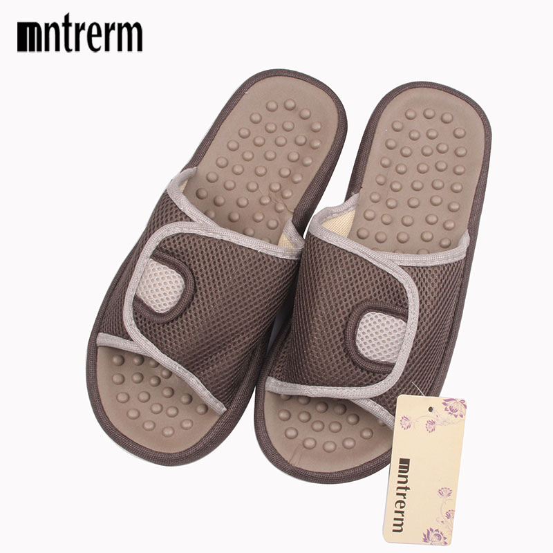 Mntrerm 2018 Hot Summer Home Slides Slippers Couples Foot Massage Indoor Slippers And Large Size Soft Bottom Men Sandals